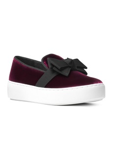 Michael Kors Collection Women's Val Velvet Slip-On Sneakers