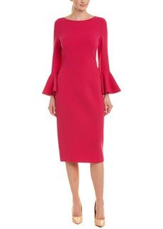 Michael Kors Collection Wool-Blend Sheath Dress