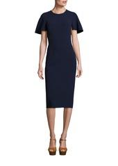 Michael Kors Collection Wool Cape Dress