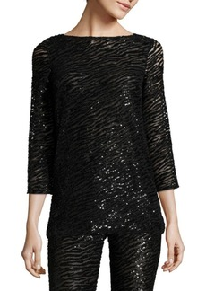 Michael Kors Zebra Boatneck Top