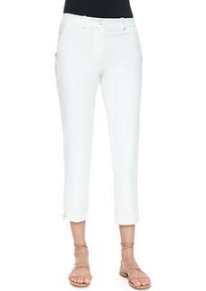 Michael Kors Zip-Detailed Skinny Ankle Pants