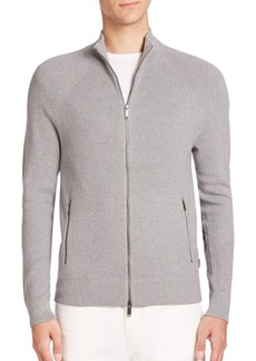 Michael Kors Cotton-Blend Zip Cardigan