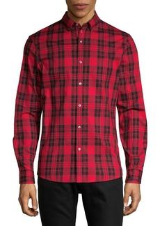 Michael Kors Cotton Plaid Button-Down Shirt