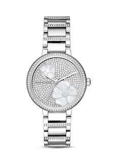 Michael Kors Courtney Stainless-Steel Pav� Watch, 36mm