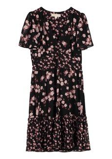 Michael Kors Crêpe Dress With Floral Print