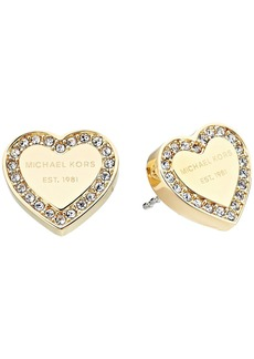 Michael Kors Crystal Heart Studs Earrings