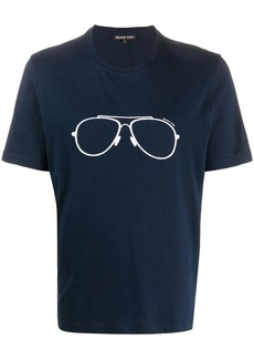 Michael Kors embroidered glasses T-shirt