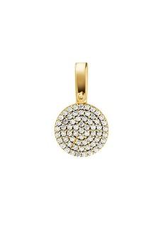 Michael Kors Custom Kors Pave Sterling Silver Disc Charm