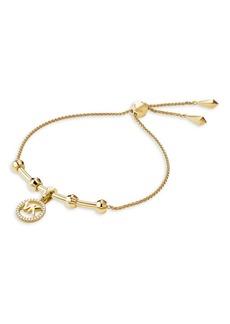 Michael Kors Custom Kors 14K Goldplated Slider Bracelet