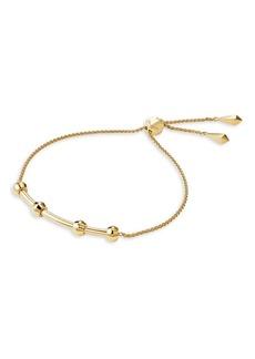 Michael Kors Custom Kors 14K Goldplated Charm Slider Bracelet