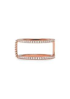 Michael Kors Custom Kors 14K Rose-Goldplated & Crystal Ring Jacket