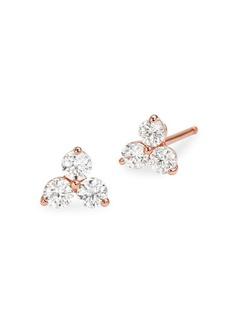Michael Kors Custom Kors Sterling Silver & Crystal Cluster Stud Earrings