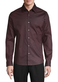 Michael Kors Dot-Print Stretch Shirt