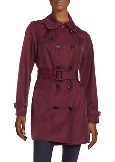 MICHAEL KORS Double Breasted Trench Coat