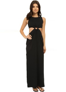 Michael Kors Draped Solids Open Back Cover-Up Dress