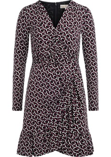 Michael Kors Dress In Multicolor Fabric With V-neck