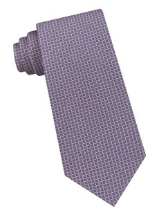 Michael Kors Dylan Grid Silk Twill Tie