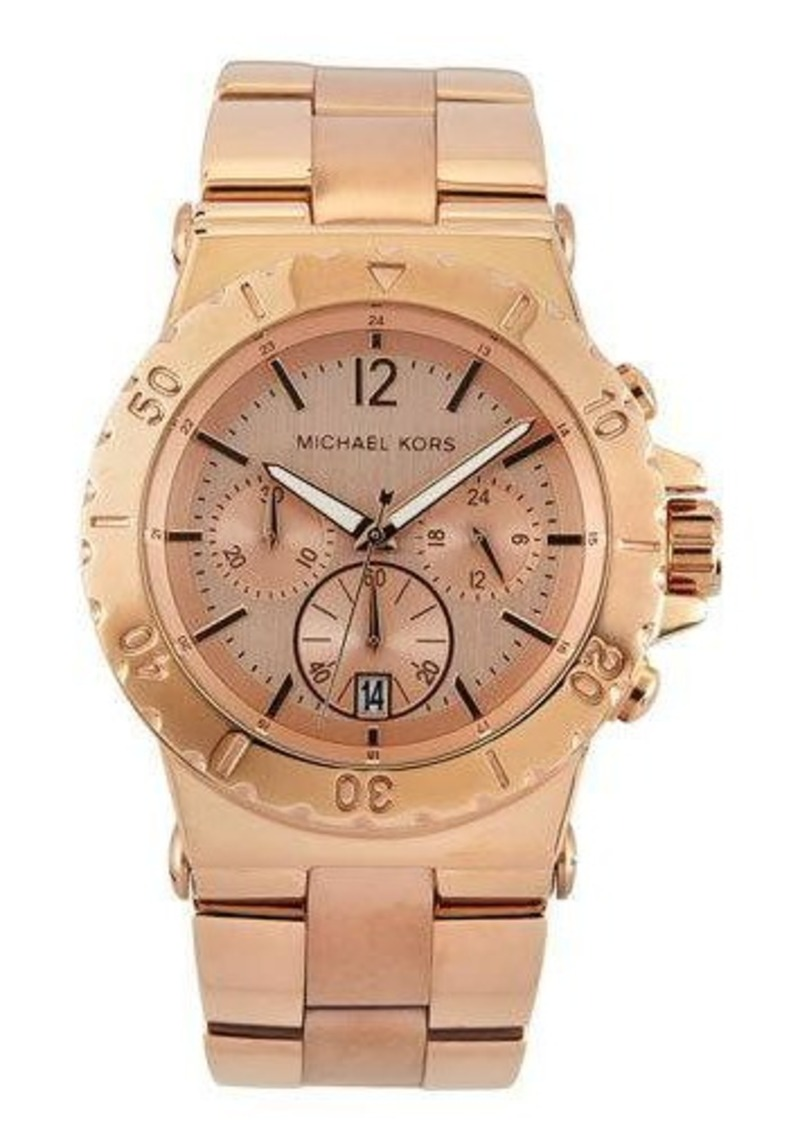 MICHAEL Michael Kors Dylan Rose-Golden Stainless Steel Chronograph Watch