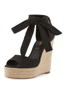 Michael Kors Embry Ankle-Wrap Wedge Sandal