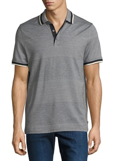 Michael Kors Engineered Birdseye Stripe Polo Shirt