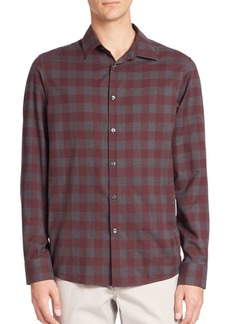 Michael Kors Enzo Slim-Fit Checkered Shirt