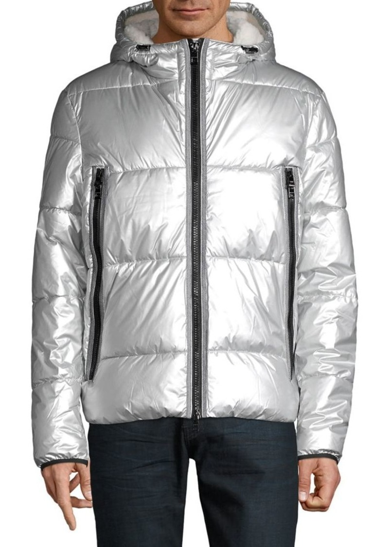 Michael Kors Faux Fur-Lined Hooded Puffer Jacket