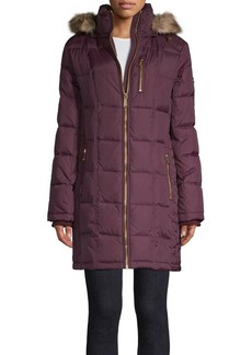 MICHAEL Michael Kors Faux Fur-Trimmed Quilted Jacket