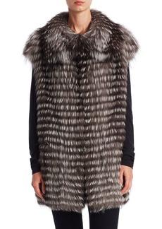Michael Kors Feathered Fox Vest