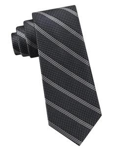 Michael Kors Fine Line Grenadine Striped Silk Tie