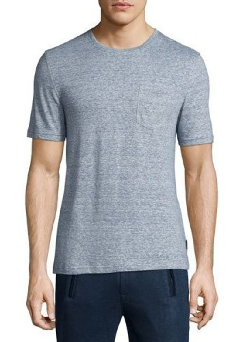 Michael Kors Fine-Striped Crewneck Jersey T-Shirt