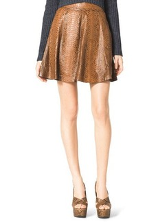 Michael Kors Flared Python Skirt