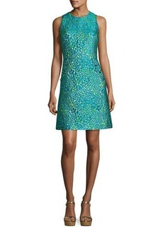Michael Kors Floral Dome-Button Shift Dress