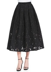 Michael Kors Floral Fil Coupe Midi Skirt