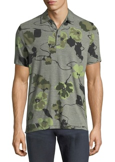 Michael Kors Floral-Knit Polo Shirt