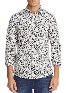 Michael Kors Floral Print Stretch Slim Fit Button-Down Shirt