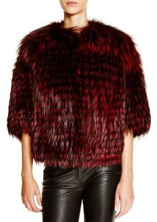 Michael Kors for Maximilian Feathered Saga Fox Coat - 100% Exclusive