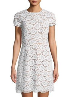Michael Kors Collection Gardenia Floral Lace Mini Dress