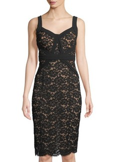 Michael Kors Collection Gardenia Lace Sheath Dress