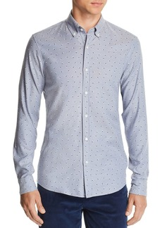 Michael Kors Geometric-Print Trim Fit Button-Down Shirt
