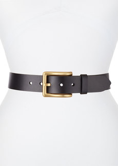 Michael Kors Collection Golden Square Buckle Leather Belt