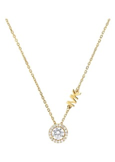 Michael Kors Goldplated Sterling Silver and Cubic Zirconia Pendant Necklace