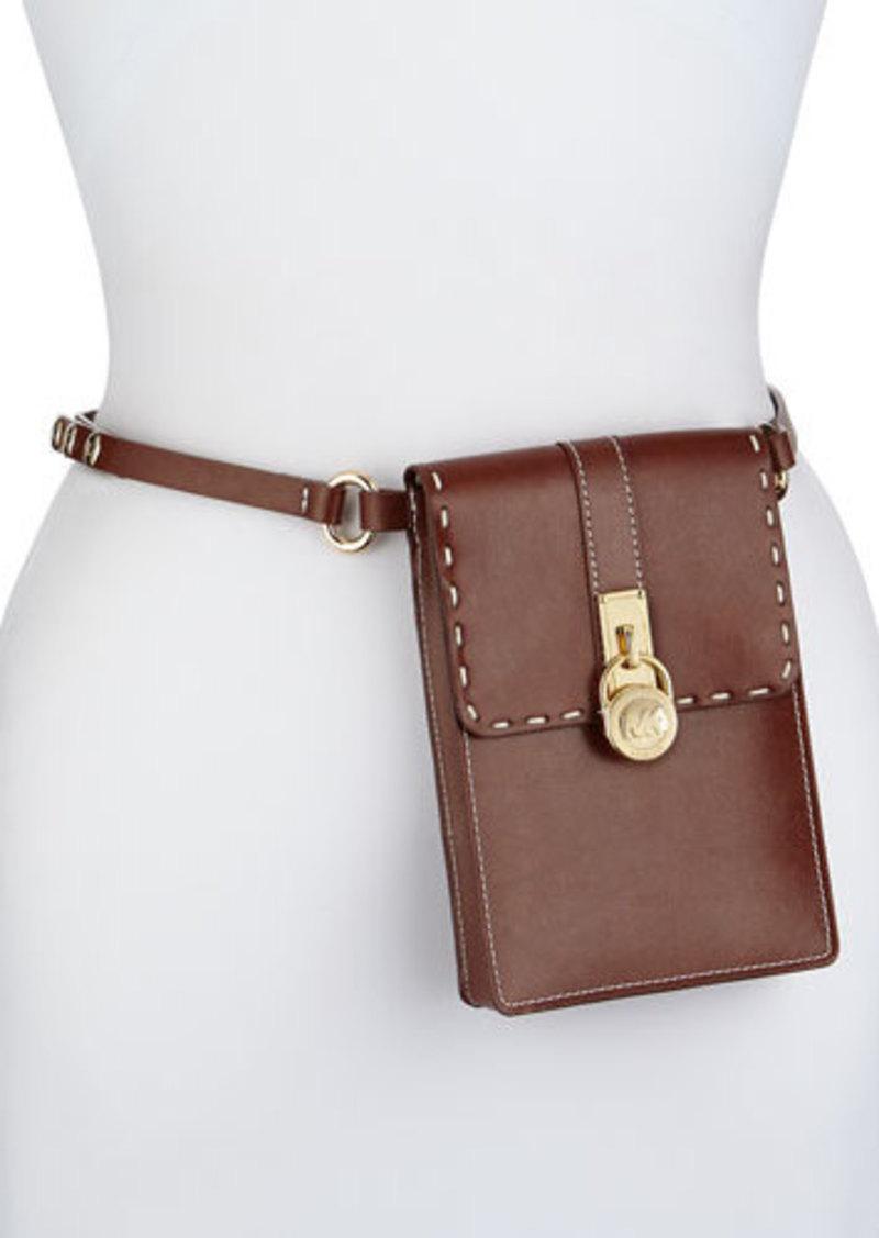 michael kors michael kors hamilton lock leather belt bag. Black Bedroom Furniture Sets. Home Design Ideas