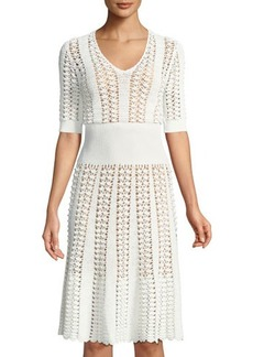 Michael Kors Collection Hand-Crocheted Midi Dress