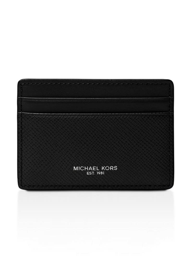 Michael Kors Harrison Cross Grain Leather Card Case