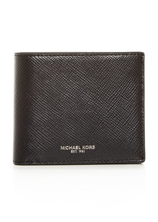 Michael Kors Harrison Crossgrain Leather Bi-Fold Wallet