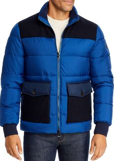 Michael Kors Heavy Mixed-Media Puffer Jacket