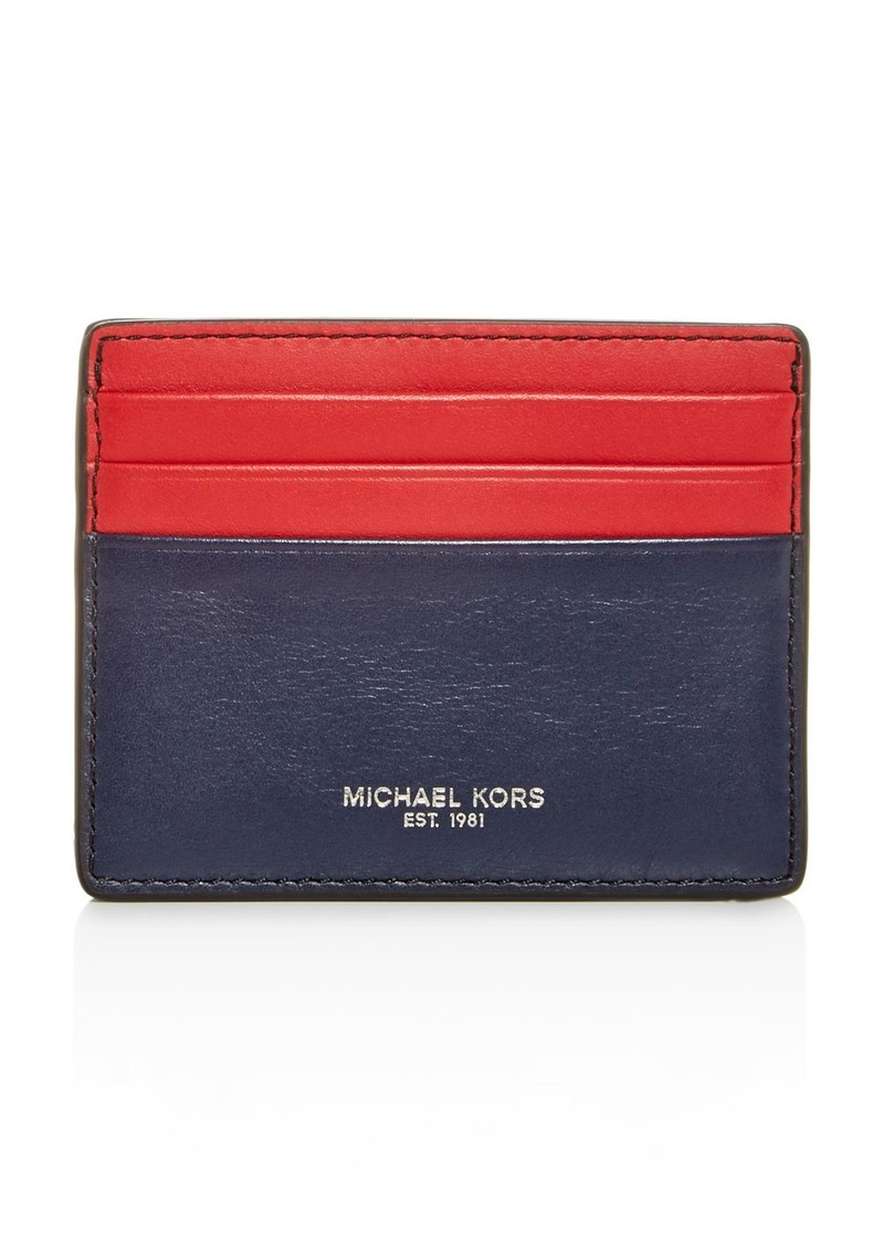Michael Kors Henry Aroma Leather Card Case