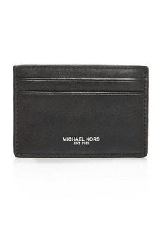 Michael Kors Henry Leather Card Case with Money Clip