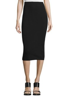 Michael Kors High-Waist Midi Pencil Skirt