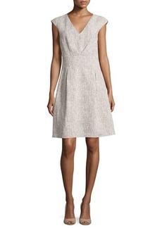 Michael Kors Jackie Cap-Sleeve A-Line Dress